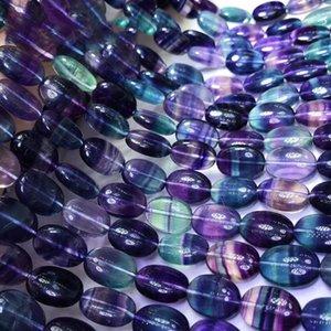 7A Natural Beads Fluorite pietra preziosa colorati per 925 monili d'argento sterling fare 15inch braccialetto della collana