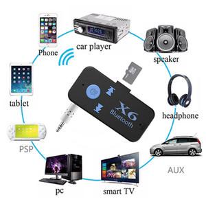 X6 بلوتوث اللاسلكية V 4.2 استقبال AUX الصوت ستيريو الموسيقى لبطاقة TF الرئيسية رئيس الهاتف المحمول سيارة حزمة البيع بالتجزئة