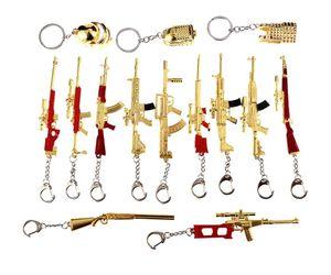 Горячая PUBG брелки джедай игры мини золото цвет пистолет модель металлический брелок творческие подарки автомобиль брелок мода сумка аксессуары AWM 98K