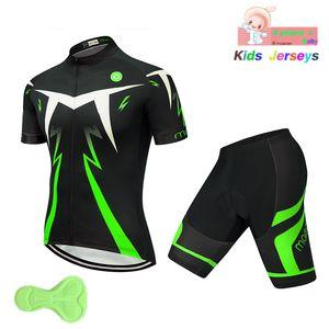 Bambini verde fluorescente Cycling Jersey Set 2019 bici Jersey Pantaloncini Bambino montagna MTB della strada bicicletta copre Maillot Ropa Ciclismo