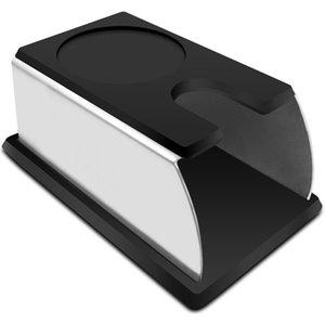 Realand robusto acciaio inossidabile in silicone caffè espresso Tamper stand Barista attrezzo di pigiatura Titolare della mensola della cremagliera del caffè Machine Tool