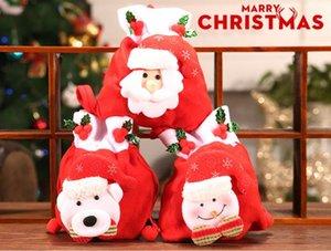Festliche Nette Weihnachtsmann Schneemann-Süßigkeit-Geschenk-Beutel-Plätzchen-Verpackung Taschen-Partei-Handtasche Frohe Weihnachten-Speicher-Paket