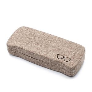 Lunettes cuir unisexe lunettes lunettes Hard Shell Case Protecteur de lecture des yeux Lunettes de soleil Portable cas cadeaux Boîte de rangement