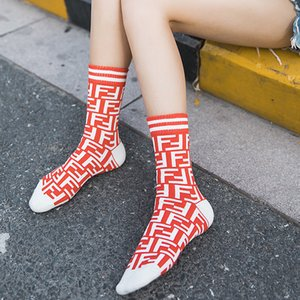 2020 new autumn socks pure soft cotton European and American alphabet ladies sports personality fashion long sock