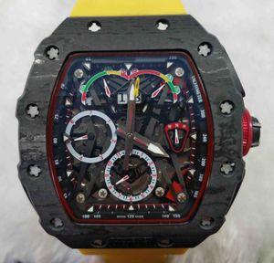 LCD5 Designer montres McLaren F1 .RM 50-03 modèle montres Mouvement moles.Matériau est en carbone NTPT fiber.Multi fonctionnelle me automatique