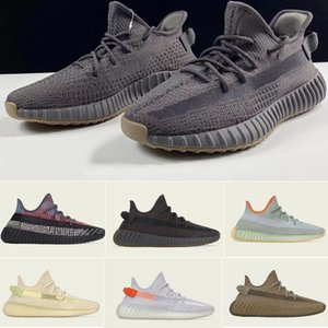 2020 New Kanye West Chaussures de course V2 Cinder Phare arrière Styliste Sneaker Desert Sage Yeshaya Marsh Yecheil Yeezreel Reflective Hommes Femmes Chaussures