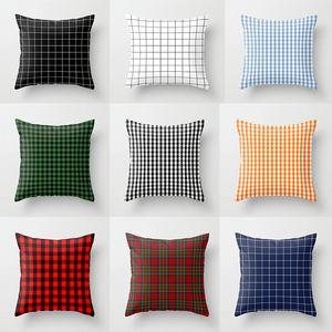 Fundas de almohada para el hogar de moda enrejados impresos funda de almohada funda de cojín cuadrado para decoración del hogar directo de fábrica 4 5tq E1