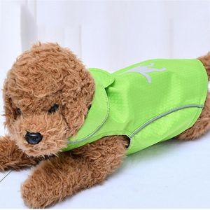 Pet Cat Dog roupa impermeável Jacket Dog Outdoor Pet Coats capuz Reflective macio respirável Sólidos malha Cães Roupa 20Jan6