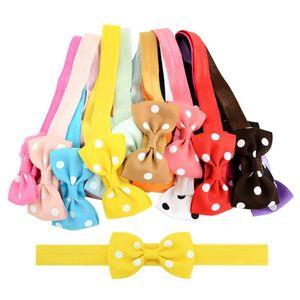 20 unids/lote 2,75 pulgadas niños dulce pequeño arco bandas elásticas para el cabello Polka Dot Grosgrain cinta arcos diadema accesorios para el cabello 739