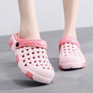 2020 Chaussures d'été femme femmes plage femmes Sandales plates en caoutchouc Femme Eva Sandalias unisexe trou Chaussure Sandle