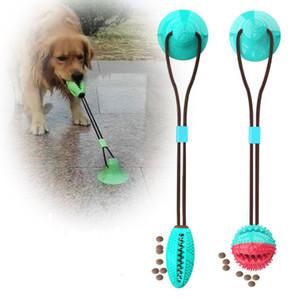 A última mordida pet grande aspiração pêlo de cão ventosa Dentes de escape comestíveis, brinquedos otário para animais que sugam para o chão