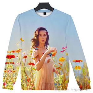 Katy Perry Hommes Automne Designer Couple Toison Hoodies Crew 3D manches longues Homme Vêtements Concert Vêtements décontractés
