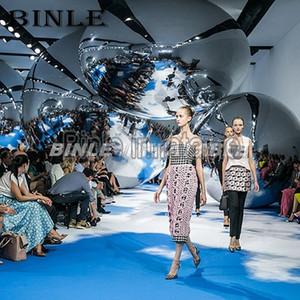Attraktive silber reflektierenden riesiger aufblasbare Spiegelkugel aufblasbarer hängender Ballon für Parteiaktivitäten Dekoration