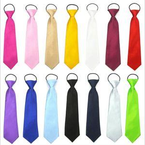 Детские Галстуки Мальчики Solid Candy Цветого Tie начальная школа галстук платье партии до шеи галстук Team Stage Neckwear Свадебного Casual Tie Хэллоуин BYP5262