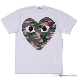 2018 Migliore qualità Hot HOLIDAY Cuore Emoji GIOCA Camouflage Camo giapponese cuore grigio bianco T Shirt da uomo
