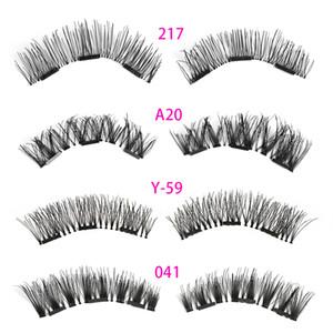 1 Set Triple Magnetic False Eyelashes Full Coverage Glue-free Lashes Cross Long Magnet Eye Lashes Make Up Extension Tools