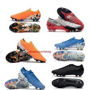 Los hombres calientes exquisito Mercurial vapores Xiii Elite Fg Cr7 Ronaldo Neymar njr Shhh 13 360 baja del tobillo Fútbol Fútbol Tamaño de los zapatos 39-45