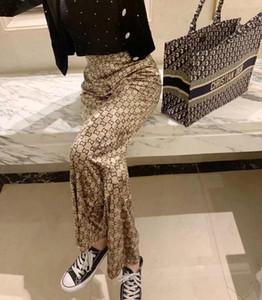 벨벳 펜던트 넓은 다리 바지 여성 가을 / 겨울 느슨한 바지 2020 봄 새로운 스타일의 스트레이트 튜브 탄성 허리 캐주얼
