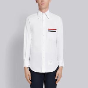 nova chegou de alta qualidade alargada gorgorão PUNHO OXFORD camisa e gorgorão POCKET TRIM OXFORD camisa de manga longa camisa branca
