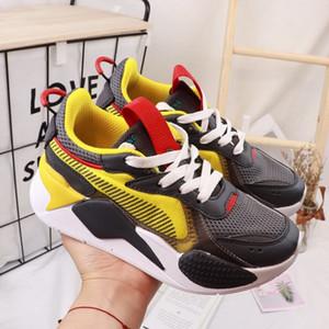 Puma RS-X Reinvention Brinquedos Lançamento Sapatos de corrida para o menino Rx-s Sneakers menina Sneaker crianças Jogging Sports Trainers juventude Chaussures 11c-3y