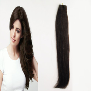 """14 """"16"""" 18 """"20"""" 22 """"24"""" Remy Seamless Tape In Hair Extensions Straight 11 colores Invisible Skin Weft PU Tape On Hair Extensions"""