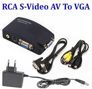50SET TV BNC / RCA Composite S-Video AV to PC Laptop VGA LCD video to VGA Converter Adapter Box For / DVD / HDTV / Monitor