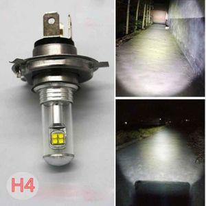 1PC H4 40W 8LED COB Super Bright Motorcycle Headlight Hi Lo Beam Bulb 6500K White
