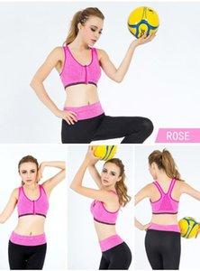 Trendy Sports Women Running Yoga Fitness No Rims Bra Sexy Shockproof Zipper Push Up Underwear Good Quality Vest Bras