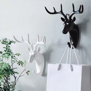 Testa di cervo vintage Appendiabiti da parete decorativo Minimalista Home Decor Impiegato sul muro Cappotto Vestiti Portachiavi Cremagliera Cornieri Antlers Gancio