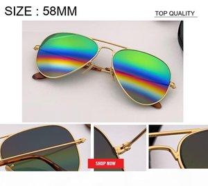 2019 Men's Aviation Sunglasses woman rainbow flash Mirror Sunglass HD Driving uv400 Sun Glasses lunettes de rd3025 reflected gafas 58mm