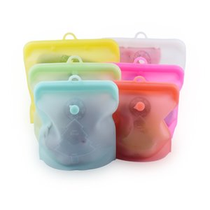Silicone Food Bag Zero Waste Fresh Sealed Bags Reusable Snack Bag Vegetable Fruits Bag Food Storage Container LX2947