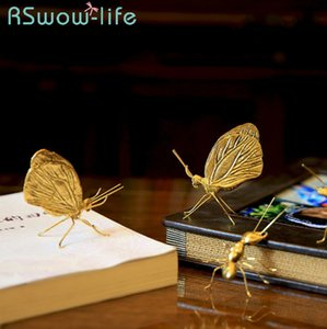 Creative Arts And Crafts Ornaments Living Room Hotel Showroom Animal Metal Decorative Butterfly Ant Home Decoration Crafts T200703