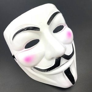 Valentine Prom 2color Halloween Cosplay Mask Masquerade Mask Full Face V Vendetta Anonymous Guy Fawkes Mask Vendetta Anonymous