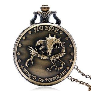 Retro Vintage 3D Scorpion Design Poche de poche Hommes Femmes Analog Quartz Montres Collier Chaîne Timepiece Horloge Reloj de Bolsillo