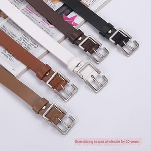 All-match imitation leather and Pin jeans jeans belt Women's simple pin buckle PU leisure Youth student belt