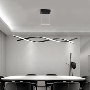 Pendiente de la lámpara moderna para la Oficina de habitación Restaurantes accesorios de cocina de aluminio de onda Lustre Avize moderna iluminación de la lámpara