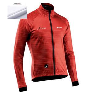 2020 yeni kuzeybatı kış sıcak polar bisiklet uzun kollu erkek bisiklet profesyonel ekibi açık maillot Ropa ciclismo