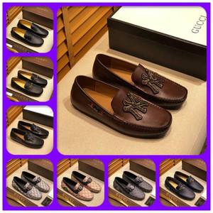 Nuovo! 019 di lusso del Mens stilisti scarpe di cuoio dei fannulloni casuali dello slip Gentleman su Flat Oxford Shoes 38-46 Dimensione