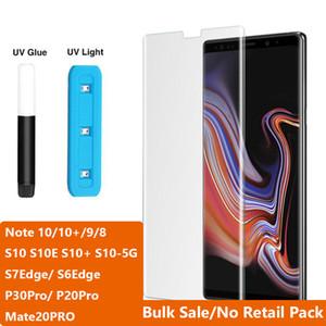 Proteggi schermo per telefono in vetro temperato con colla liquida nano a luce UV per Samsung NOTE10 NOTE 10 Plus S10 S10E S8 S9 Note 8 9 Huawei P30PRO