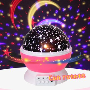 RRA2589 Favor Dia de Natal luminosa Brinquedos Romantic Starry Sky LED Night Light Projector bateria USB Night Light Toys Valentine da Creative