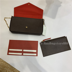 3 PCS / Set Favorito Multi Pochette Accesorios Mujeres Crossbody Purse Messenger Bags Bolsos Flores Diseñador Hombro Lady Cuero con Caja