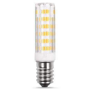 E12 LED High Light Logement Candelabra Ampoule 220v 240v 75LED 2835SMD 550LM de remplacement blanc ampoule halogène de 50 watts