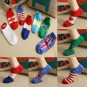 Women Men Socks Cool Comfortable National Flag Painting Socks Novelty Funny Novelty Cotton