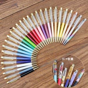 Popüler DIY el yapımı kristal kalem, Japonca ve Korece yaratıcı DIY el yapımı yağlı kalem, metal tükenmez kalem elmaslı