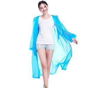 Thickened Raincoats EVA Non-disposable Solid Raincoat Fashion E-Friendly Waterproof Raincoats Outdoor Travel Long Raincoat RRA2857
