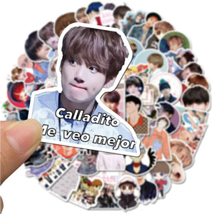 76pcs set new design bts Small waterproof stickers Graffiti for DIY Sticker on Suitcase Luggage Laptop Bicycle notebook bangtan boys