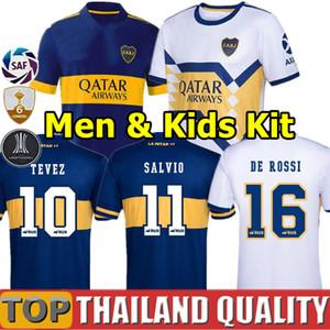2020 2021 boca Juniors camisetas de fútbol 20 21 boca Juniors TEVEZ MARADONA MOURA ABILA Camiseta de futbol REYNOSO DE ROSSI JRS hombres kit para niños