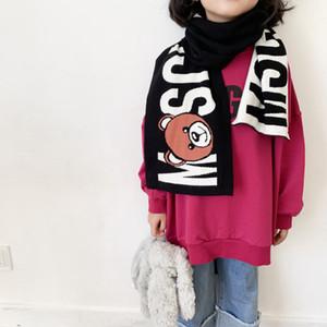 Pañuelo de cuello de algodón bufanda del bebé para niños muchachos de la bufanda bufandas niñas de dibujos animados para niños Envolturas de nueva primavera otoño invierno de los niños