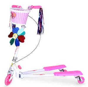 Bicicletas rana scooter de tres ruedas basculante de tijera para vehículos de flash portátil plegable scooters de los niños directos de fábrica Correpasillos Material de las ruedas de la PU