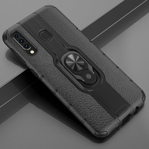For Samsung Galaxy M30 Shockproof PC + TPU Case with Ring Holder